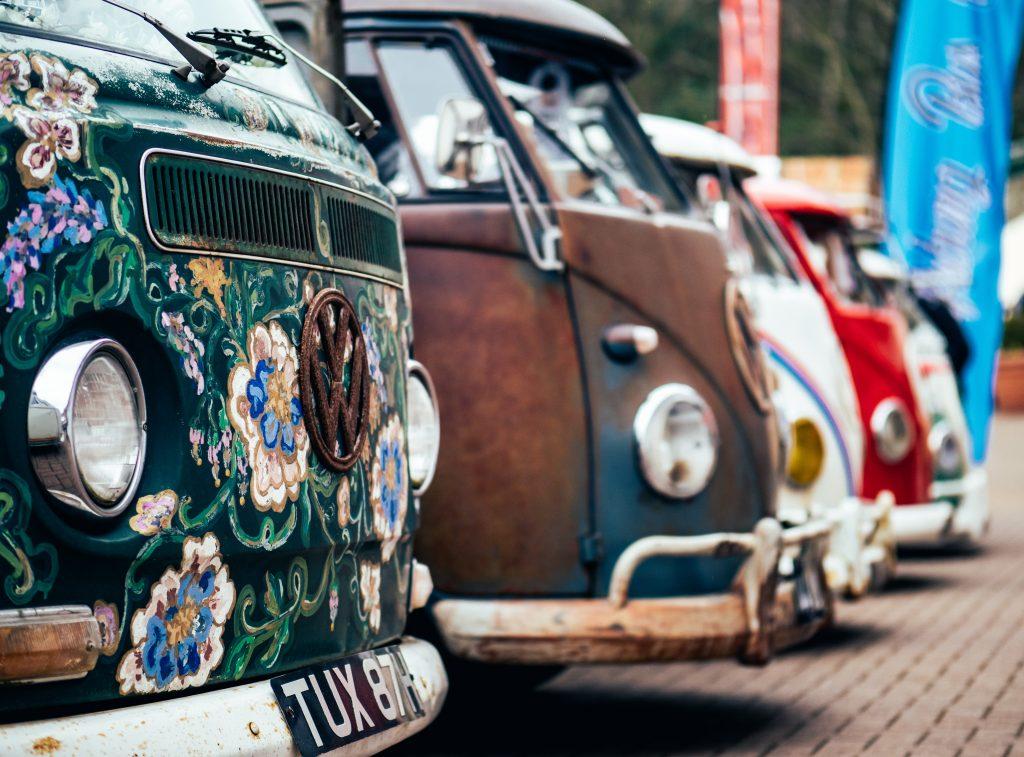 Photo of vintage camper vans
